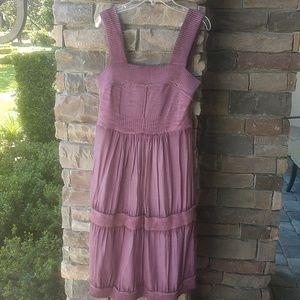 Anthropologie Eloise silk dress S